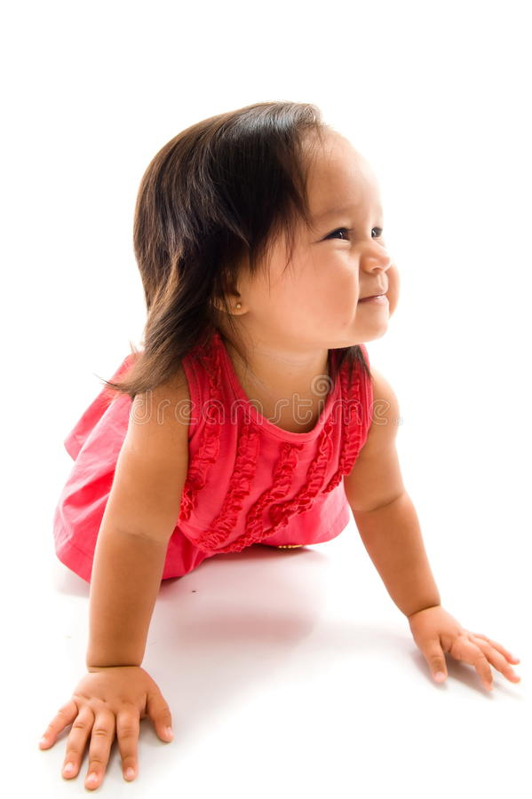 Download Baby Girl Crawling stock image. Image of people, little - 16209397