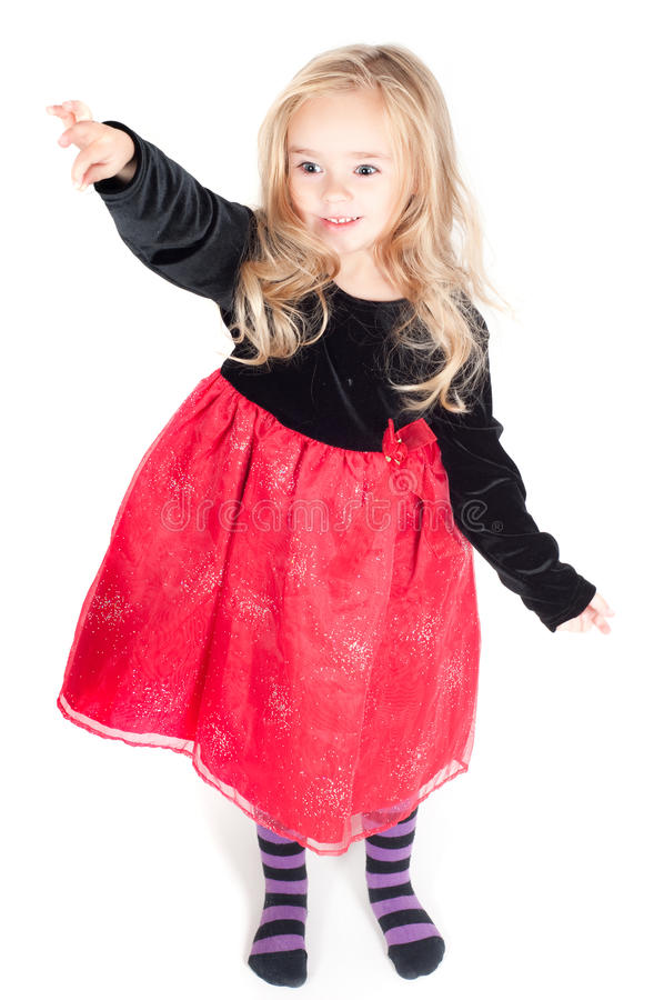 Download Baby Girl Dressed Up For Christams Stock Photo - Image of dress, xmas: 16724322