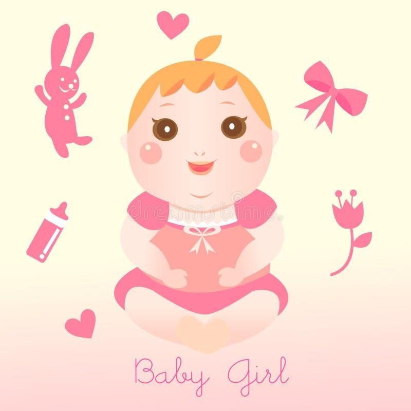 Baby girl element royalty free illustration