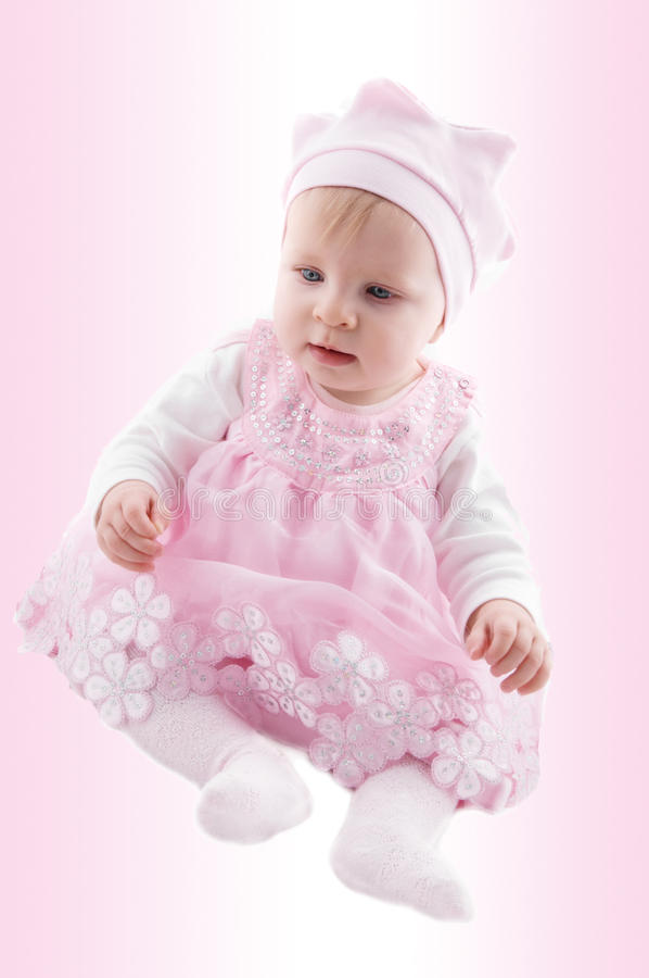 Download Baby girl in fancy dress stock photo. Image of angel - 17542284