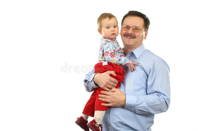 Download Baby girl with father stock image. Image of male, daughter - 4217665