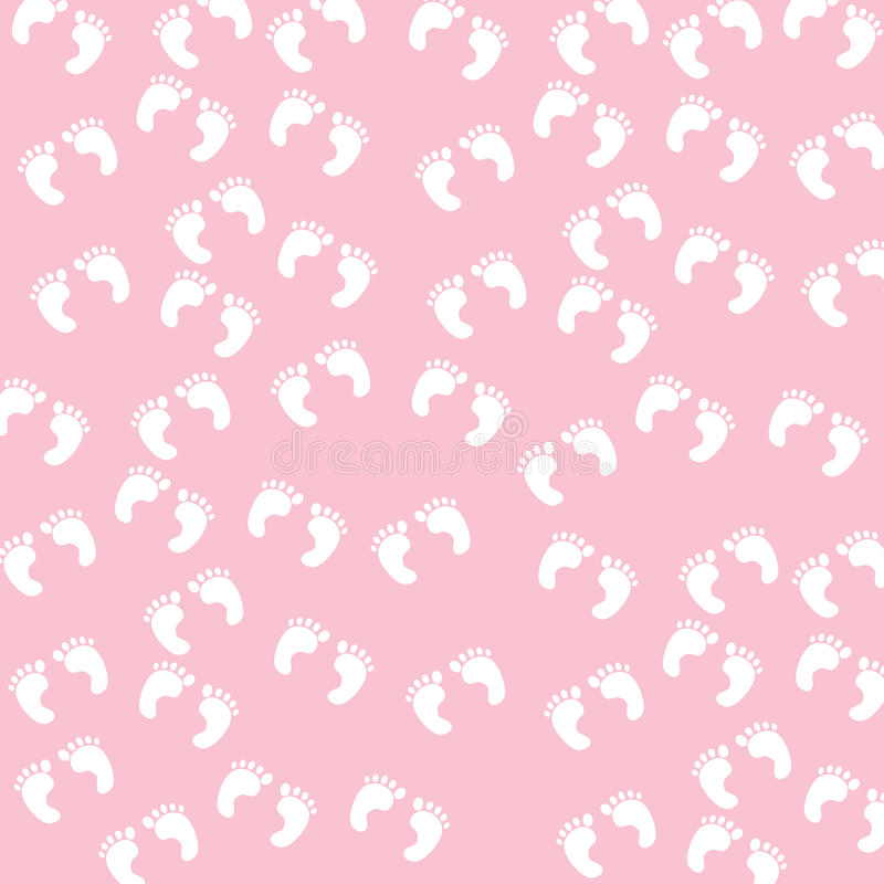 Download Baby Girl Footprints Seamless Pattern Royalty Free Stock Photography - Image: 15229597