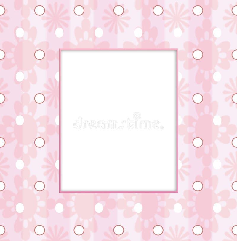Baby girl frame stock illustration. Illustration of flowers - 15982205