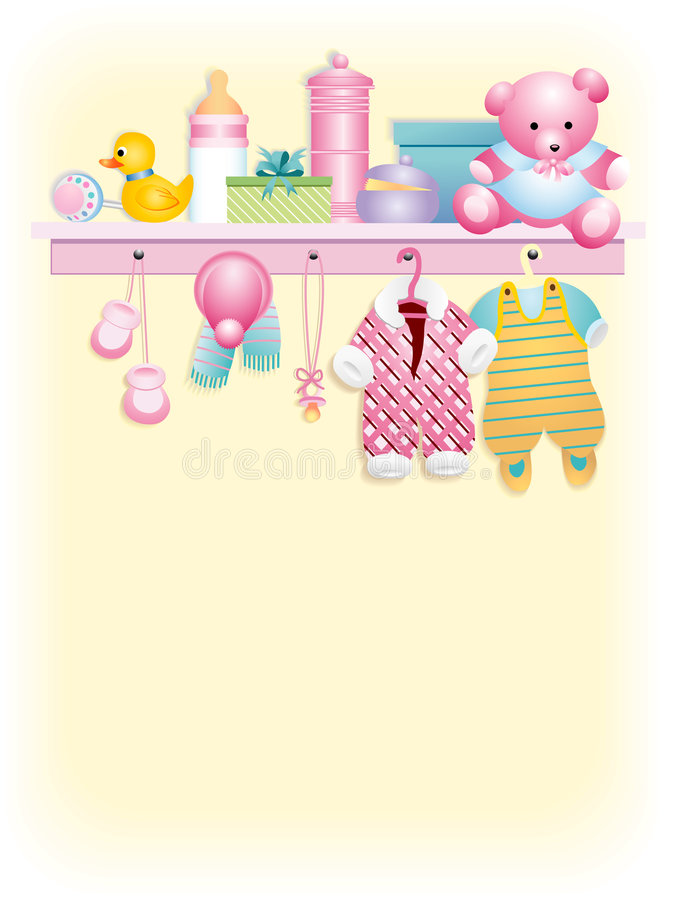 Baby girl garment stock illustration
