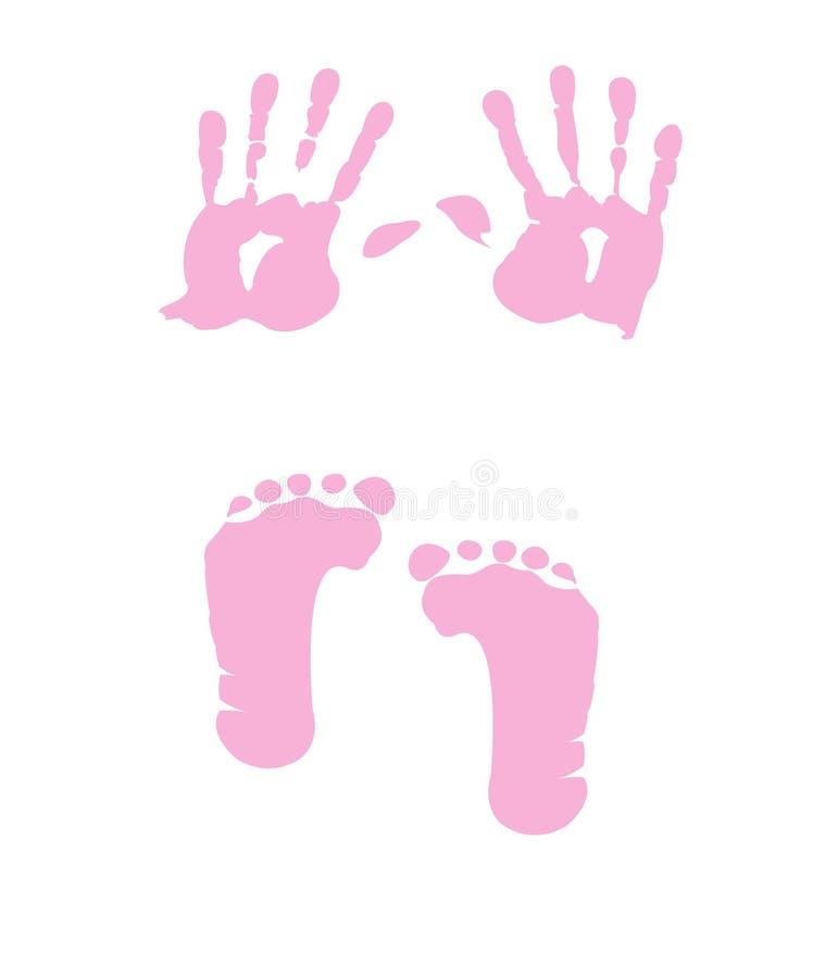 Download Baby Girl Handprint - Footprint Stock Vector - Illustration of impression, baby: 24307218