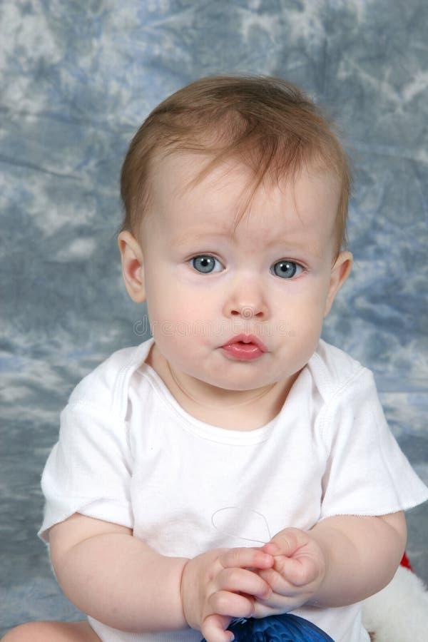 Baby Girl holding Decoration stock photography