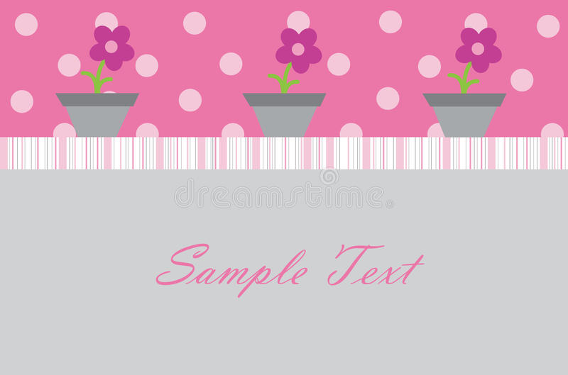 Download Baby Girl Invitation stock vector. Image of announcements - 19724318