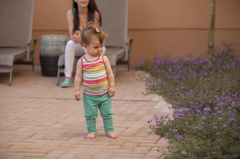 Download Baby Girl Loves To Be Outside Stock Image - Image: 33828969