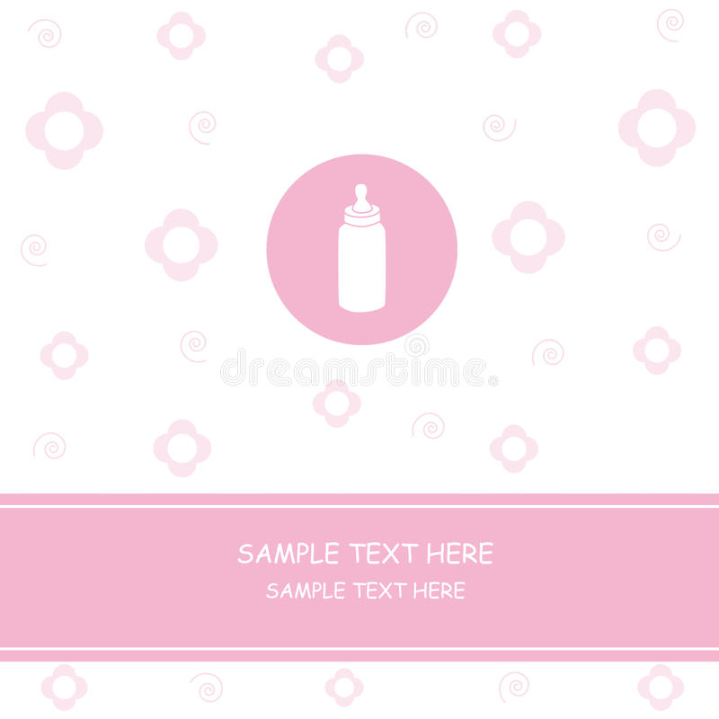 Download Baby girl milk stock vector. Illustration of milk, flower - 16737263