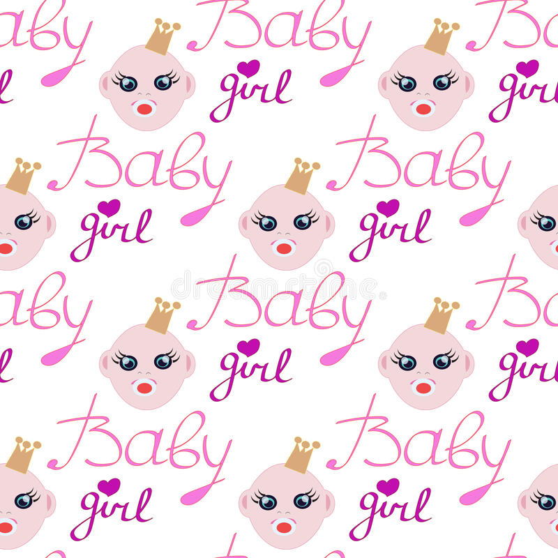 Baby Girl In One Birthday Invitation Card For Baby Shower Stock ...