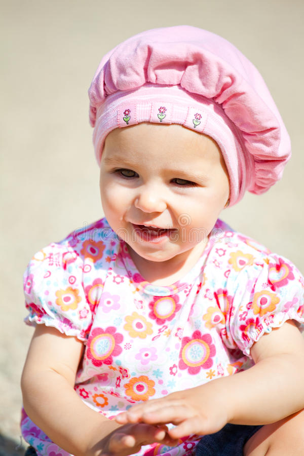 Download Baby girl outdoor stock photo. Image of daytime, colour - 16537360