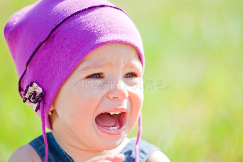 Baby girl outdoor royalty free stock image