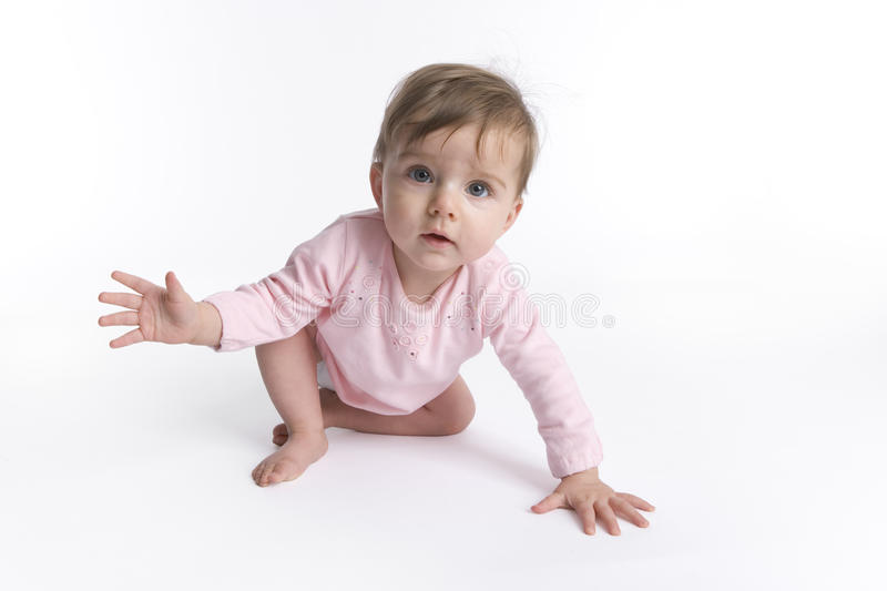 Baby girl performing ballet stock photography