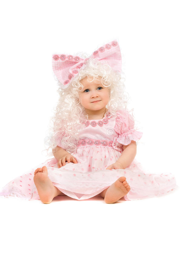 Download Baby Girl In A Pink Dress Royalty Free Stock Image - Image: 23785676