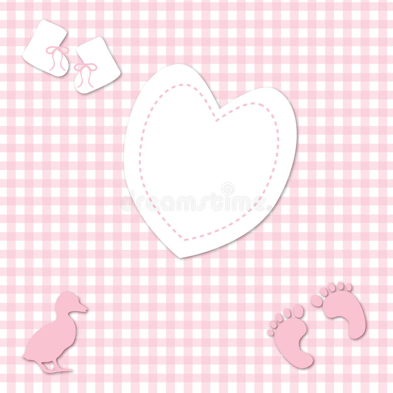 Download Baby Girl Pink Gingham Background Stock Images - Image: 15787754