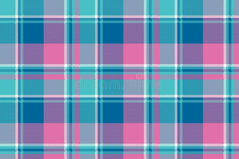 Baby girl pink pastel color plaid seamless pattern vector illustration