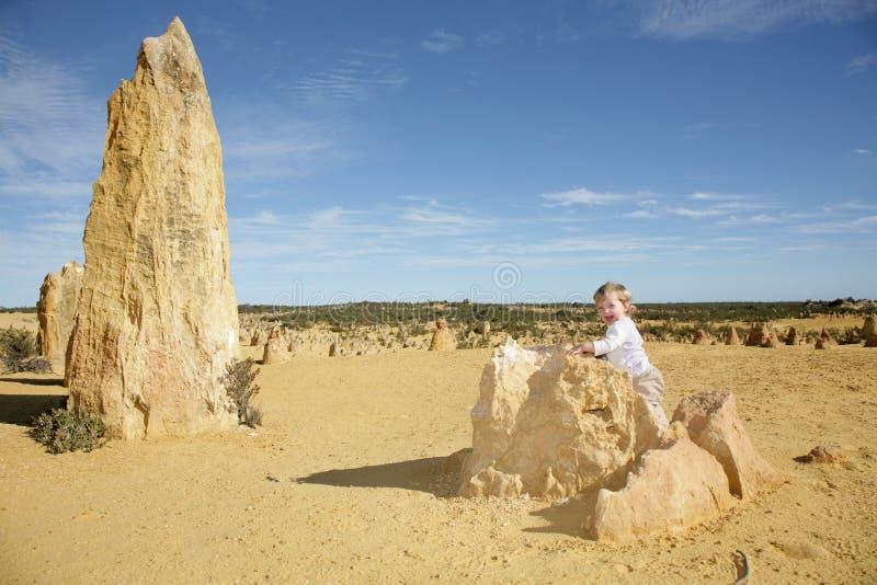 Baby Girl Pinnacles stock photo