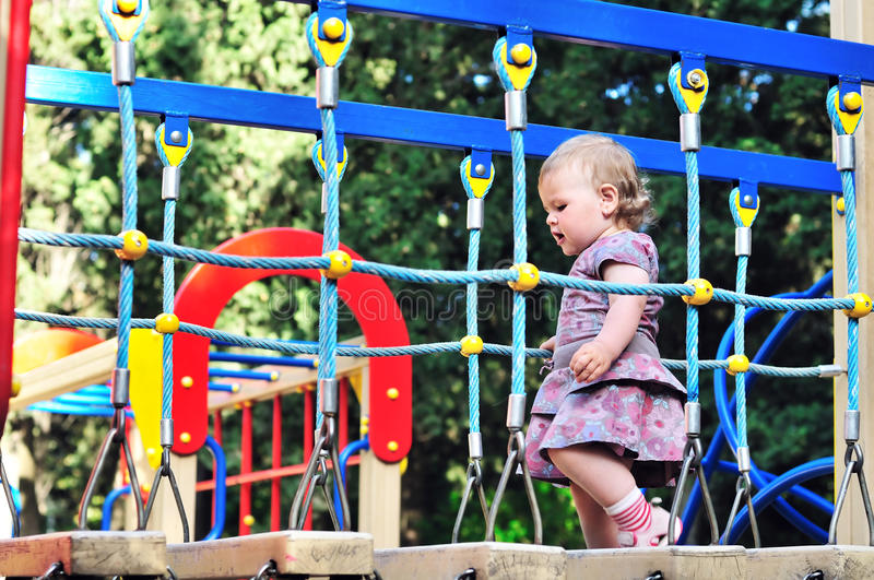 Download Baby girl on playground stock photo. Image of colorful - 14744452