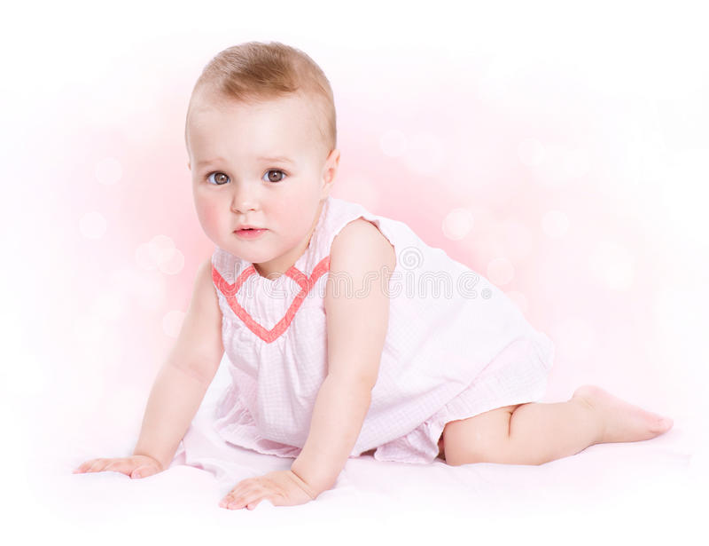 Baby Girl Portrait Stock Photos
