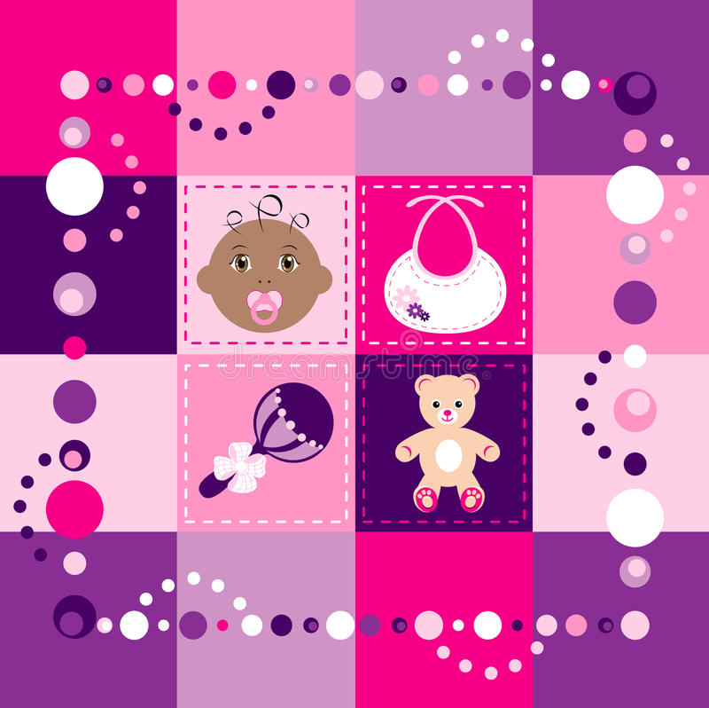 Download Baby Girl Quilt stock vector. Illustration of black, arts - 13306526