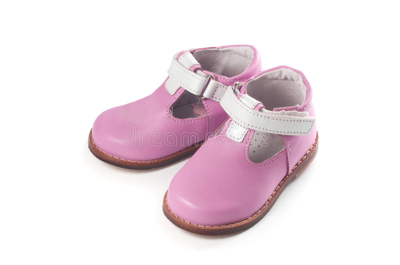 Download Baby girl shoes stock image. Image of material, child - 21722469