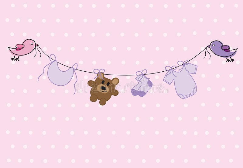 Baby Girl Shower stock illustration