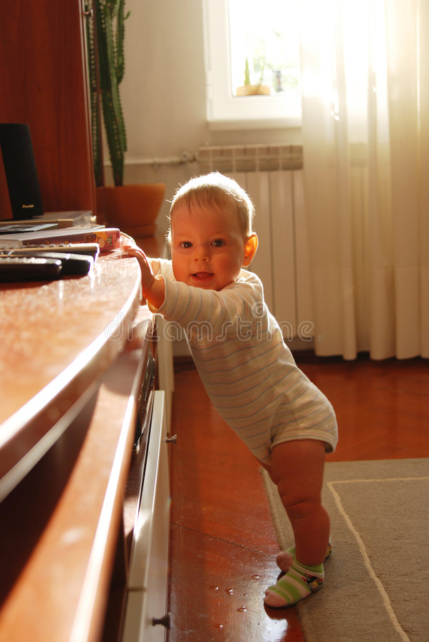 Download Baby Girl Standing Stock Photography - Image: 3973612