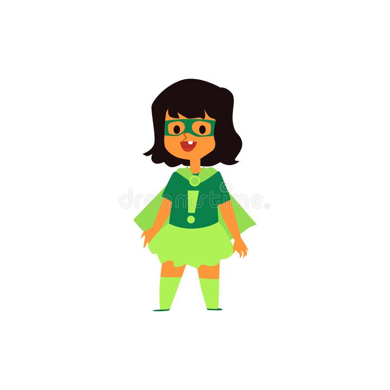 Baby girl of super heroes family flat cartoon vector illustration isolated. vector illustration