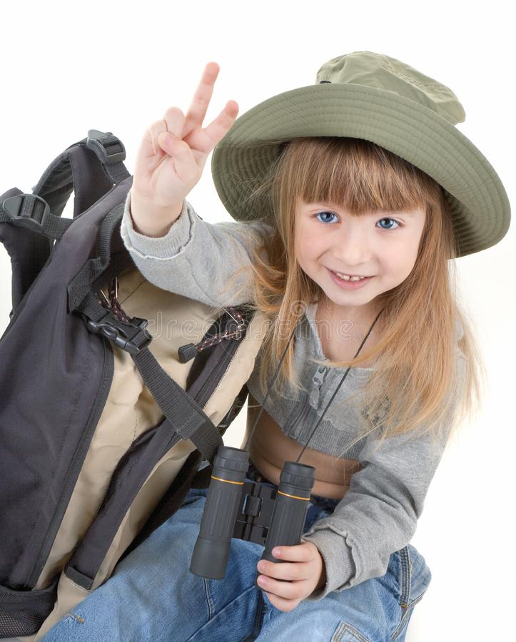Download Baby girl - tourist stock photo. Image of luggage, caucasian - 13729664