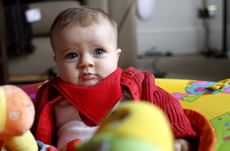 Baby Girl With Toys Stock Images
