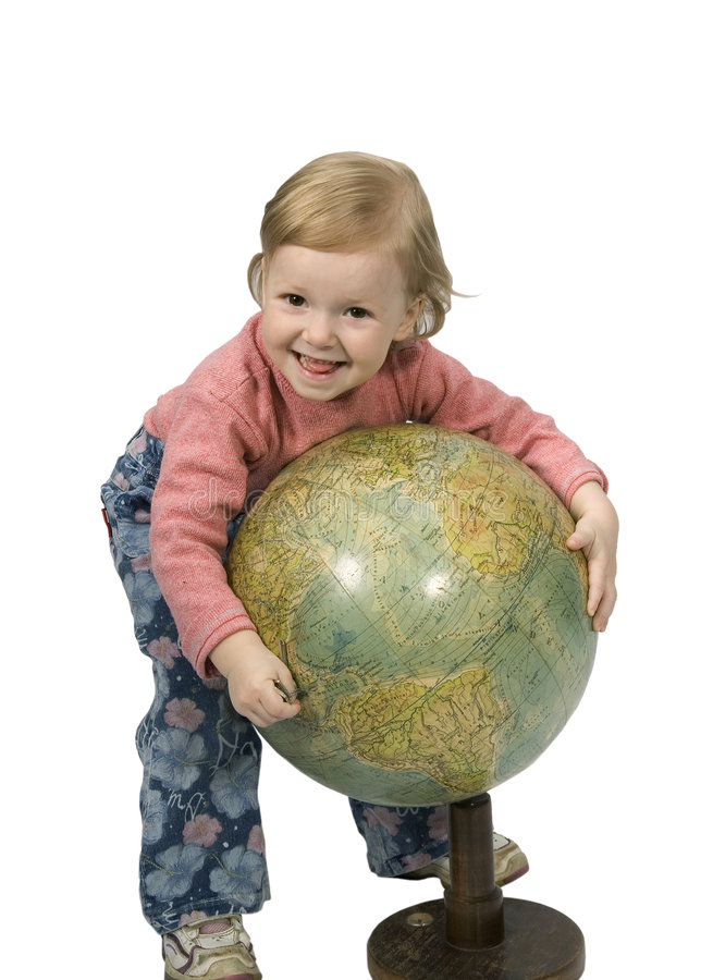Download Baby and globe stock photo. Image of childhood, people - 2220152