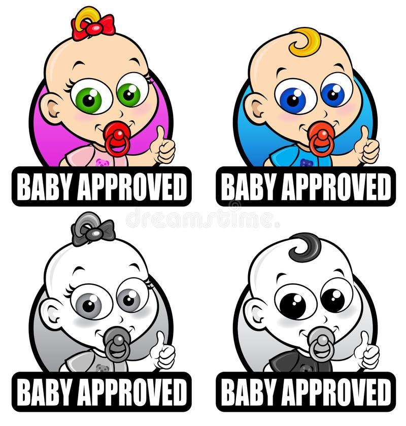Baby Goedgekeurde Verbindingen vector illustratie