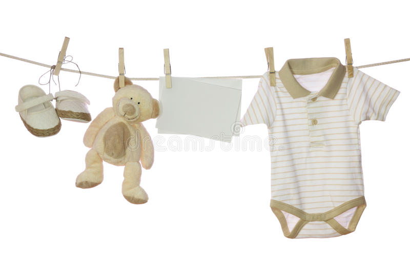 Download Baby goods and blank note stock photo. Image of blank - 14368884