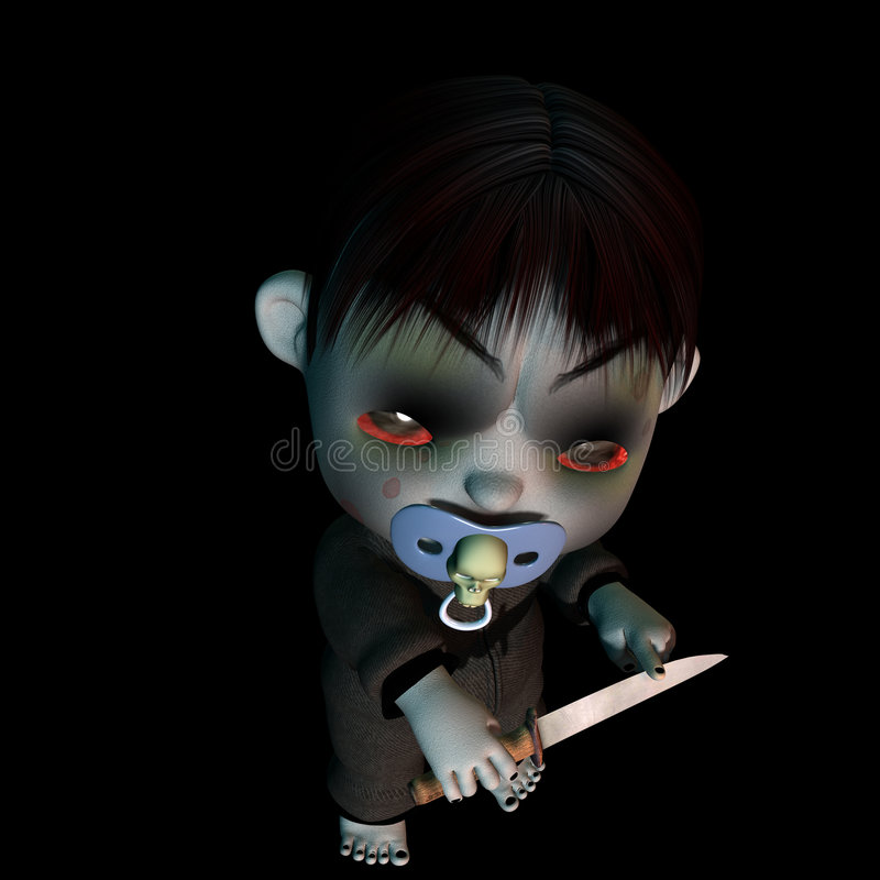 Download Baby - Goth Psycho stock illustration. Image of fright - 2190294