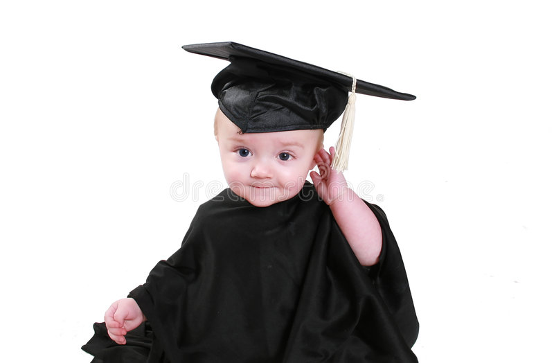 Baby graduation stock image. Image of preschool, gown - 2257547