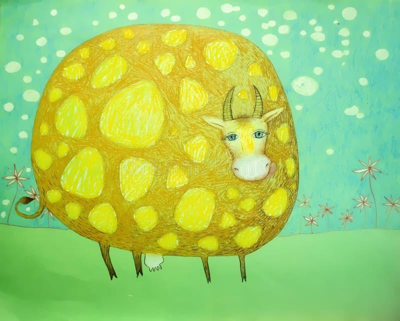 Download Baby Grappige Illustratie Bevlekte Koe Stock Illustratie - Illustratie bestaande uit vrolijk, computer: 39106761