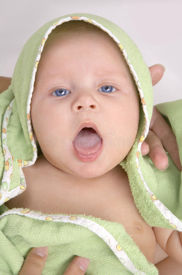 Download Baby In A Green Blanket Royalty Free Stock Photography - Image: 10898097