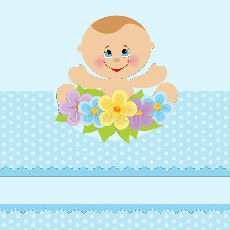Baby greetings card stock illustration