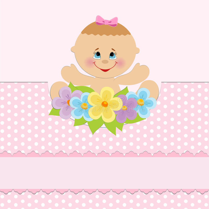 Download Baby greetings card stock vector. Image of card, girl - 14222080