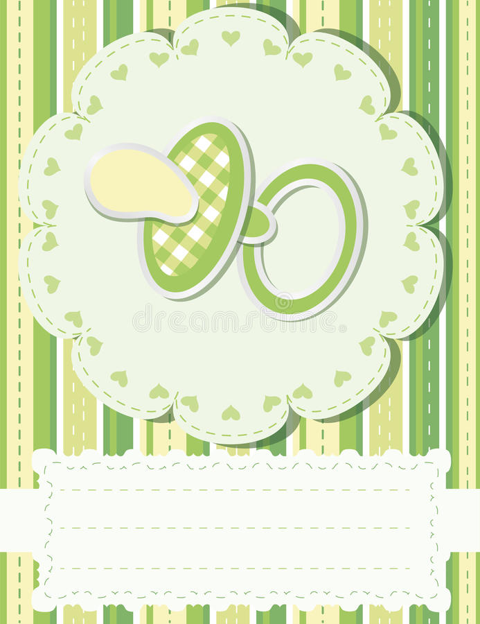 Download Baby greetings card stock vector. Illustration of baby - 19228199