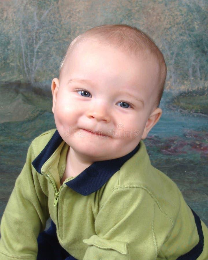 Baby in Groen royalty-vrije stock foto