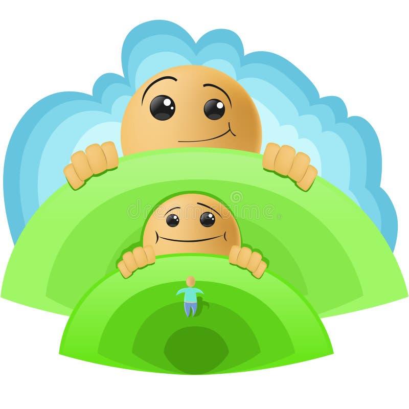 Baby growth stock illustration