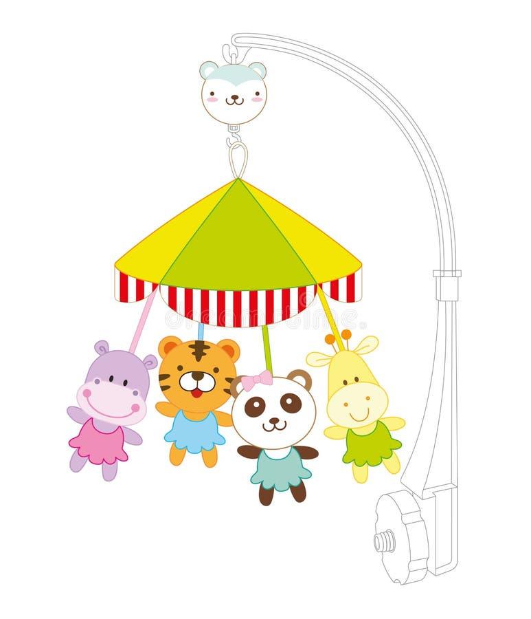 Baby hänga stock illustrationer