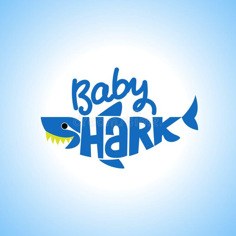 Baby-Haifisch-Doo Doo Doo-T-Shirts, Hoodie, Behälter stock abbildung