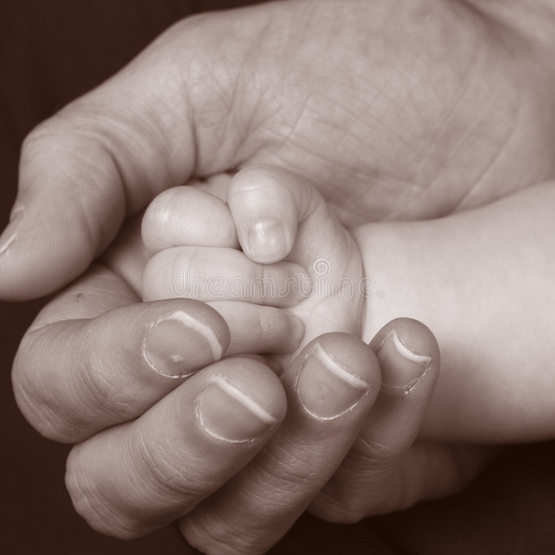 Download Baby hand 3 stock image. Image of hold, sepia, isolated - 273083