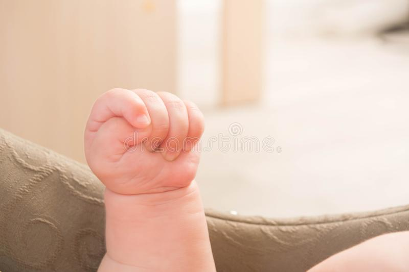 Baby hand in the air royalty free stock photos