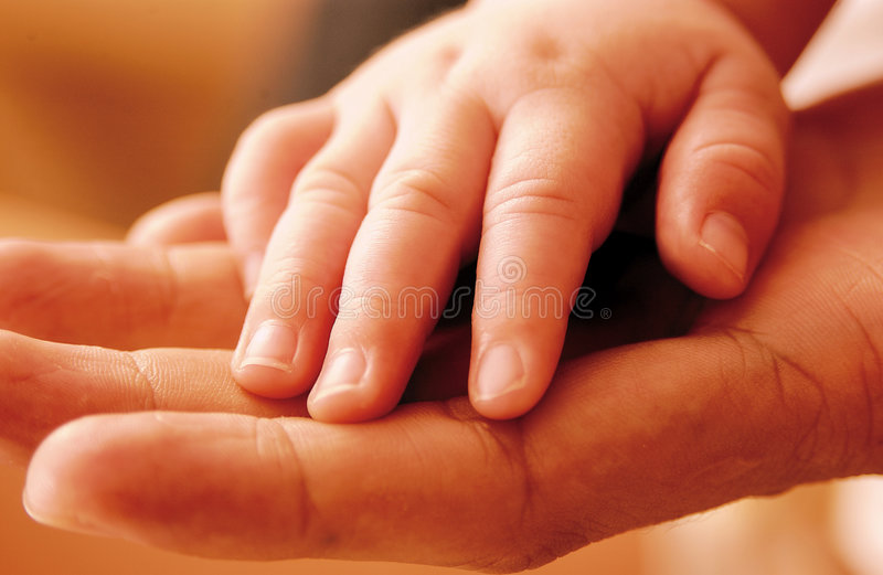 Baby hand3 stock images