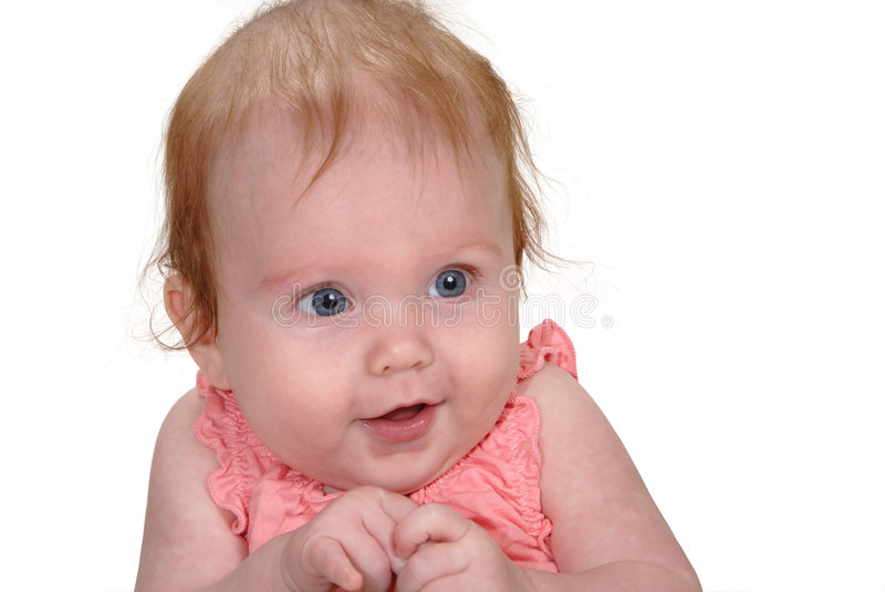 Baby with hands clasped royalty free stock photo