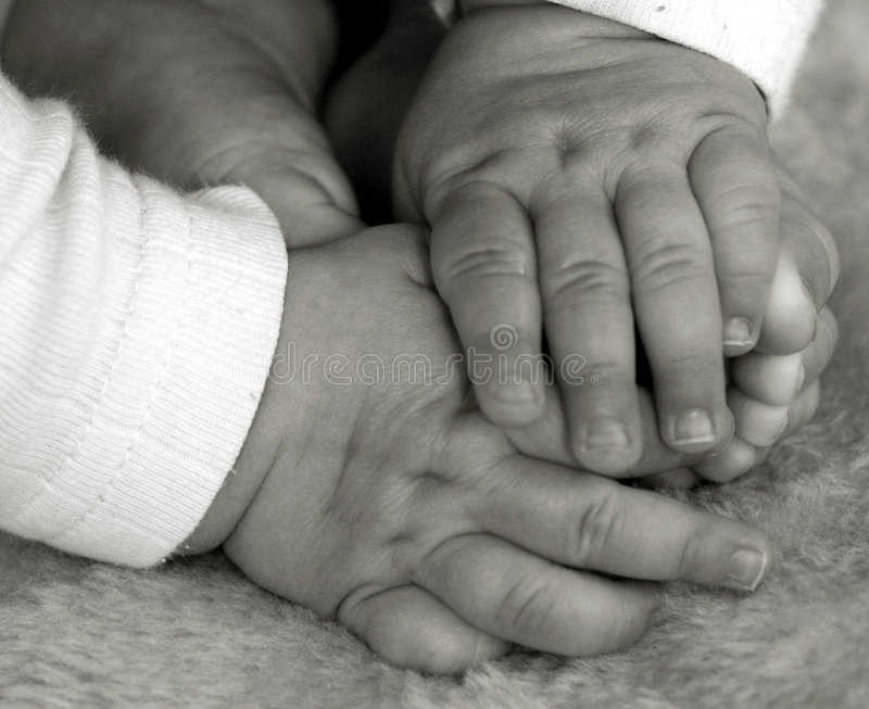 Baby hands and feet royalty free stock photos