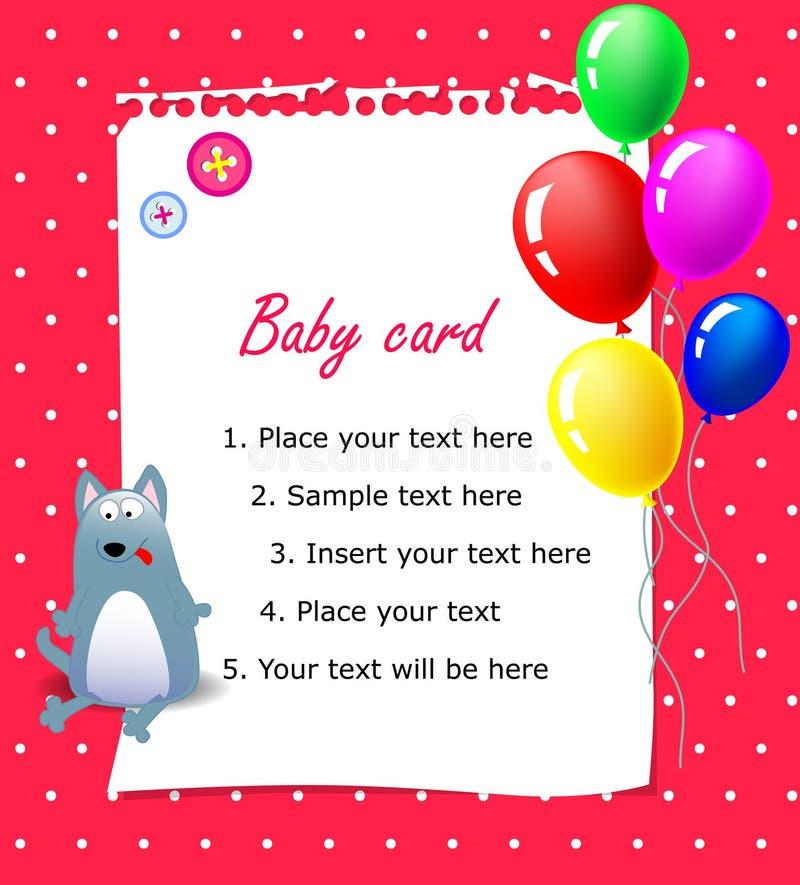 Baby happy birthday card pink stock vector illustration of baby happy birthday card pink with ballons m4hsunfo
